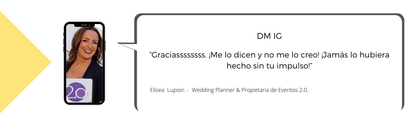 Testimonio de Elisea sobre la Mentoría con Laura Mestres, Consultoría de marketing digital y social media.