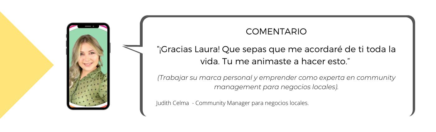 Testimonio Mentoría Laura Mestres, Consultoría marketing digital y social media